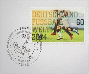 World Cup Victory Stamps of Germany Printed Before Final