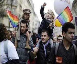 To Back Gay Marriage Tens of Thousands Rally in France