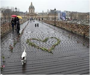 Railing Collapse of 'Locks of Love' Bridge in Paris, Evacuation Done