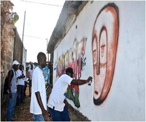 Gabonese Artist Hopes Spray Art can Help Keep Libreville Streets Clean