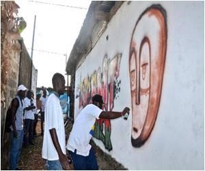 Gabonese Artist Hopes Spray Art can Help Keep Libreville Streets Clean