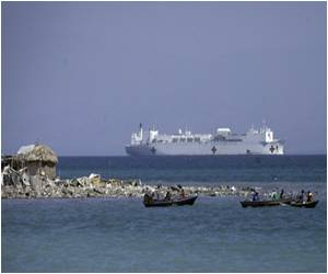 US Hospital Ship Anchored in the Port-Au-Prince Bay Brings Care, Hope to Poor Haitians