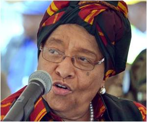 Liberia President Hails Her Country's Effort Against Ebola Outbreak