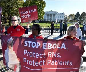 Nurses Protest Seeking Safeguards Against Spread of Ebola