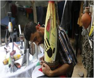 Israeli Tank Shells Become Art in Gaza