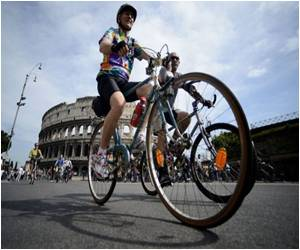 Cycle Safety Protest in Rome