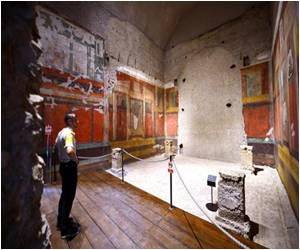 Roman Emperor's Frescoed Rooms Unveiled for First Time