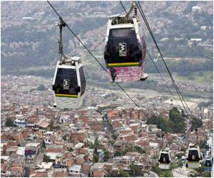 Medellin Rides Cable Car to a Better Future in Columbia