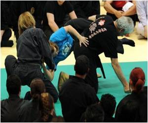 Ninjas Gather in Japan to Train Women in Self Defence