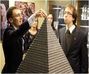 'World's Largest' Coin Pyramid Built in Lithuania