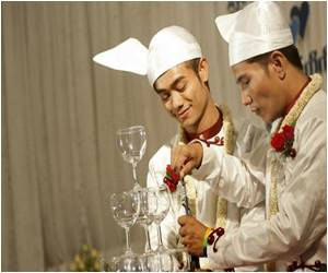 'First Public Gay Wedding Ceremony' of Myanmar Couple