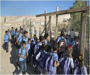 Bedouin Kids are Dedicated to Attend Bamboo School