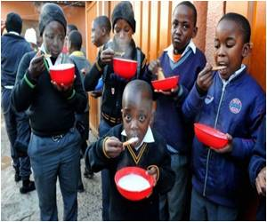 AIDS Orphans Fed by Mama Portia