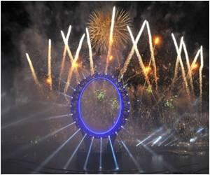 Fireworks, Laser Show Mark Start of S. Korea Expo