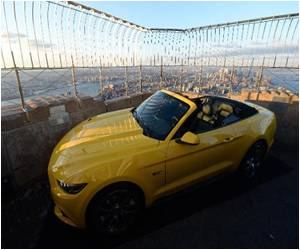 Ford Mustang's 50th Birthday Atop Empire State Building