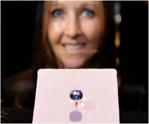 LA Museum Unveils 'Blue Moon' Diamond