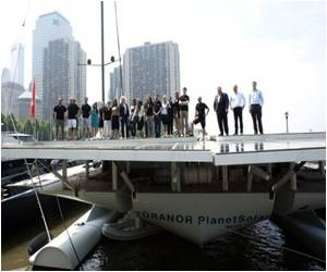 World's Largest Fully Solar-powered Boat Docked in NYC