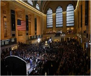Celebrations Begin At New York's Grand Central Station Which Turned 100