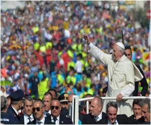 Pope Attends Massive Rally for Catholic Schools