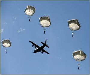 D-Day Landings Marked by Parachutists Filling Skies Over Normandy