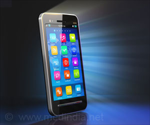 Photo of a smart phone with Apps
