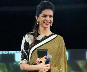 Bollywood Actress Deepika Padukone Launches the Logo of 'The Live Love Laugh'  Foundation