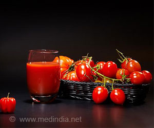 Unsalted Tomato Juice may Lower Heart Disease Risk
