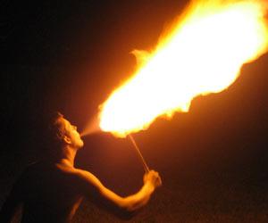 Man Suffers Kerosene Burns During Fire-Breathing Stunts