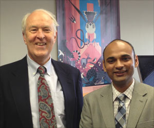 Prof Funderburgh and Doctor Sayan Basu