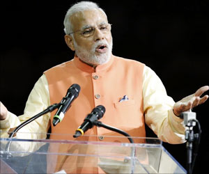 Indian Prime Minister Narendra Modi Overviews Preparation For International Yoga Day