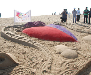 Unique Sand Sculpture Highlights Organ Donation Rally in Chennai