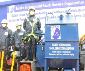 Sulabh International Launches India's First Sewer Cleaning Machine