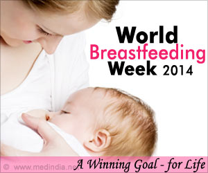 World Breastfeeding Week 2014: 'BREASTFEEDING: A Winning Goal - for Life!'