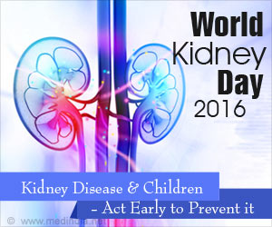 World Kidney Day 2016 Focus on Kidney Disease in Children and the Message 'Act Early to Prevent It'