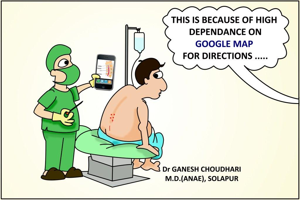 Spinal Anesthesia Using Google Map