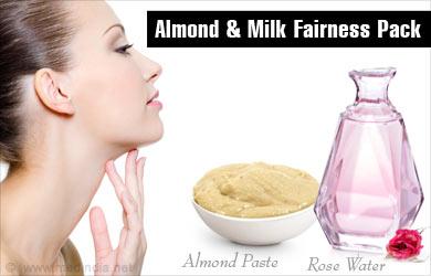 Almond and Milk Reduce Skin Pigmentation
