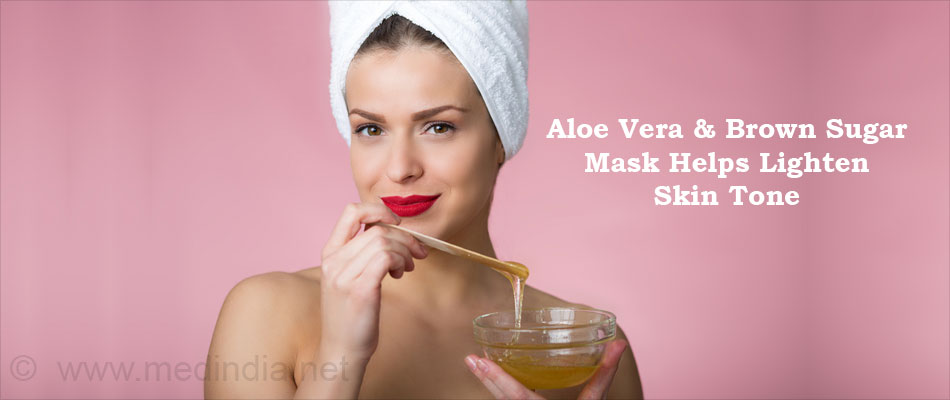 Aloe Vera & Brown Sugar Mask Help Lighten Skin Tone