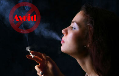 Healthy Skin: Avoid smoking