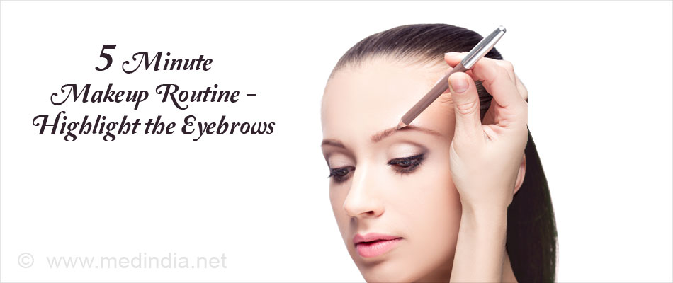 5 Minute Makeup Routine - Highlight the Eyebrows