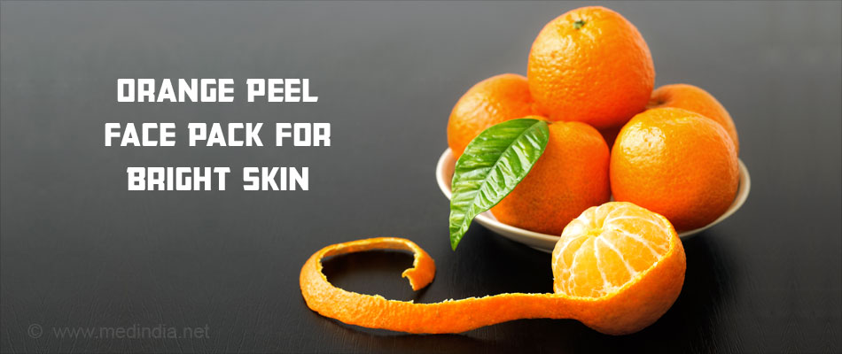 Orange Peel Face Pack for Bright Skin