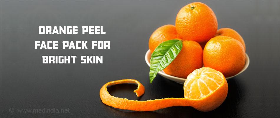 Orange Peel Face Pack for Bright Skin