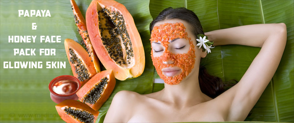 Papaya and Honey Face Pack for Glowing Skin
