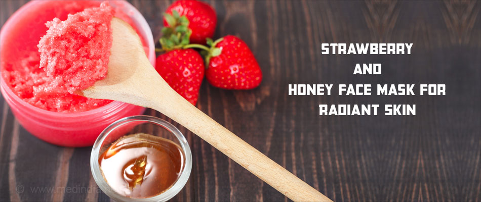 Strawberry and Honey Face Pack for Radiant Skin