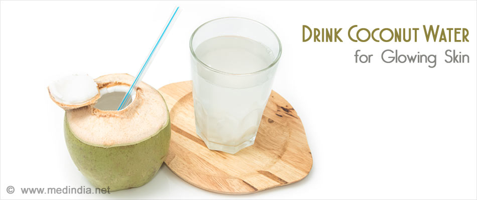 Coconut Water for Glowing and Fair Skin