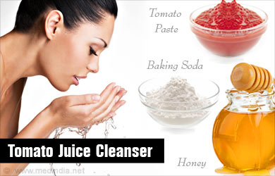 Tomato Juice Cleanser Removes Dirt from Skin