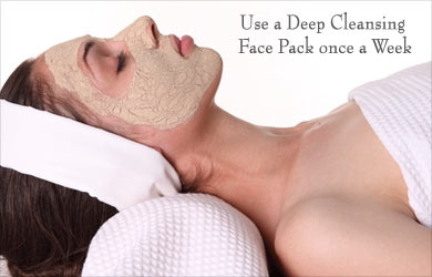 Use Face Pack Once a Week