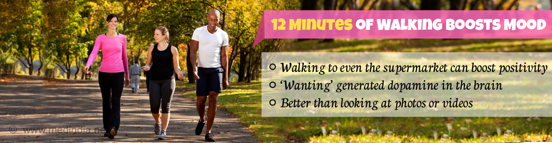 Walk 12 Minutes Daily to Boost Your Mood