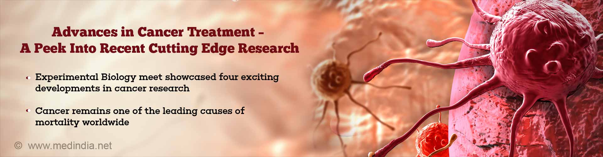 advances in cancer treatment - a peek into recent cutting edge research - experimental biology meet showcased four exciting developments in cancer research - cancer remains one of the leading causes of mortality worldwide