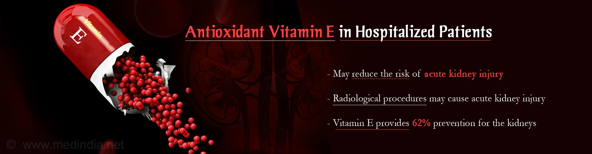 Antioxidant Vitamin E May Prevent Acute Kidney Injury in Hospitalized Patients