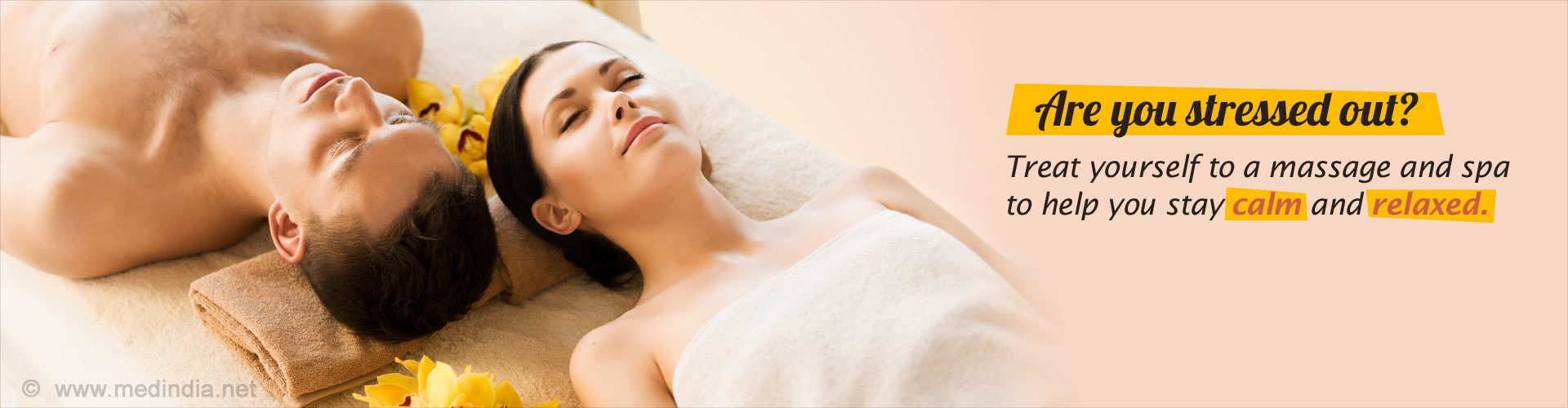 Are you stressed out? Treat yourself to a massage and spa to help you stay calm and relaxed.